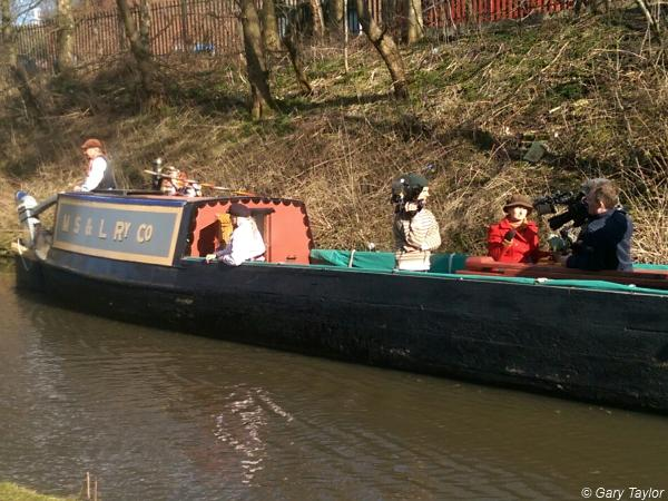 Filming on the Peak Forest Canal