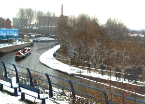 Horseboating in the snow